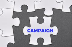 jigsaw puzzle written word campaign - stock photo