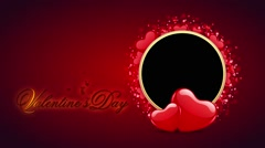 Valentines Day  & Wedding Special animated Video Frame Stock Footage