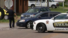 Hutchins Police Traffic Stock Footage