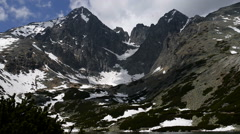 Time-lapse: Lomnicky Stit in High Tatras mountains of Slovakia - stock footage