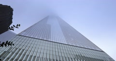 Time Lapse Freedom Tower Foggy Day Stock Footage