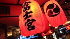 Red Chinese Lanterns Stock Footage