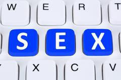 Sex online on the internet - stock illustration