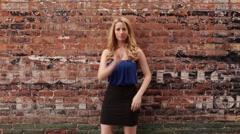 Beautiful Woman Modeling Stock Footage