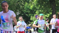 "Stock Video Footage of Kiev 01.06.2015 year. ""Run under chestnuts"""