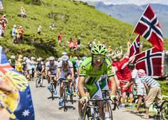 The Cyclist Alan Marangoni - Tour de France 2013 Stock Photos