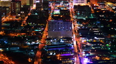 4K Las Vegas Timelapse Cityscape 36 Downtown at Night Stock Footage