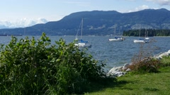 Vancouver - Sailboats in English Bay - 02 Stock Footage