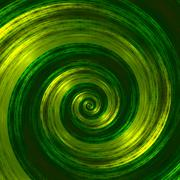 Creative abstract green spiral artwork. Beautiful background illustration. - stock illustration