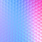 Tranquil hexagonal blue purple background. Abstract pattern for design. Stock Illustration