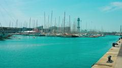 Port Vell Barcelona Stock Footage