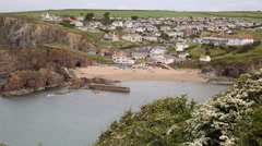 Hope Cove South Devon England UK near Kingsbridge and Thurlstone Stock Footage