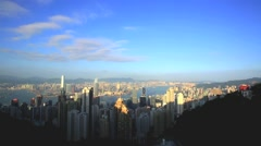 Hong Kong Hongkong Cityscape From Victoria Peak View. Stock Footage