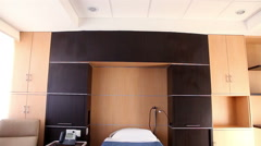 Deluxe hospital room for patients who need to stay long in the hospital. Stock Footage