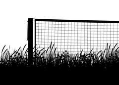 Grasscourt tennis season - stock illustration