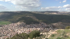 View from Mount Tabor. Stock Footage