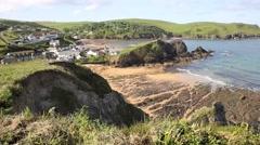 South Devon coast Hope Cove near Salcombe England UK Stock Footage