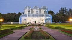 Timelapse View of the Botanical Gardens in Curitiba, Brazil - stock footage