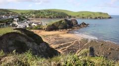 Devon coast at Hope Cove England UK near Kingsbridge Stock Footage