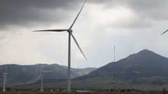 Wind Turbines Producing Clean Energy Stock Footage