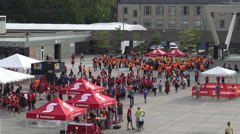 Scotiabank Rat Race for United Way 2015 Participants at Nathan Phillips Square - stock footage