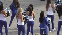 Toronto Argonauts Cheerleaders at Scotiabank Rat Race for United Way 2015 Stock Footage