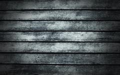 blue wood background - stock photo