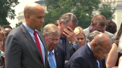 Congress prays for South Carolina mass shooting victims (Clip 2 of 2) Stock Footage
