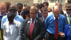 Congress prays for South Carolina mass shooting victims (Clip 1 of 2) Stock Footage