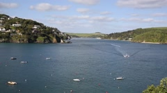 Salcombe Devon England UK view of the Kingsbridge Estuary popular for sailing Stock Footage