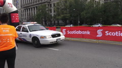 Police assisting at Scotiabank Rat Race for United Way 2015 - stock footage