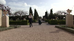 Bahai Gardens. Acre. - stock footage