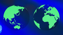 Planet earth green globe ecology background Stock Footage