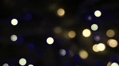 HD 1080 video of bokeh on dark background christmas light background vintage - stock footage