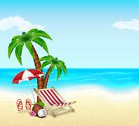 Summer vacation Stock Illustration
