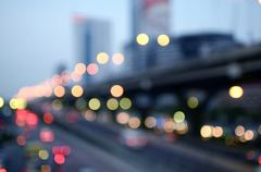 Bokeh light background - stock photo