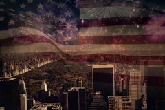 Composite image of digitally generated united states national flag Stock Illustration