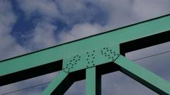 Iron Bridge and Sky - stock footage