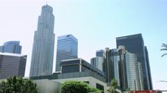 4K, UHD, Los Angeles Downtown Skyline, California, BlackMagic Camera Stock Footage