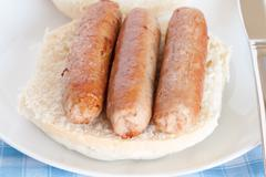Sausage Sandwich Stock Photos