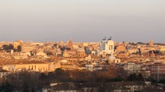 The view from the Janiculum Hill (Gianicolo). Sunset. Rome. Italy. Time Lapse. Stock Footage