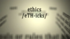 Definition: Ethics Stock Footage