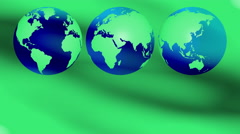 Green earth ecology concept background 4k Stock Footage