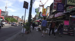Stores in Chinatown, Toronto Stock Footage