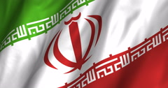 Iran waving flag 4K Stock Footage