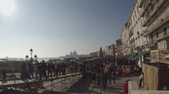 Venice Carnival. Many people go to Piazza San Marco contest masks. Stock Footage