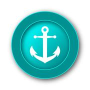 Stock Illustration of  Anchor icon. Internet button on white background.