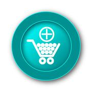 Stock Illustration of  Add to shopping cart icon. Internet button on white background.