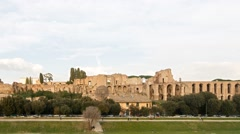 Ruins of Palatine hill palace in Rome, Italy. Time Lapse Stock Footage