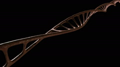 Dna single strand animate view 3 new Stock Footage